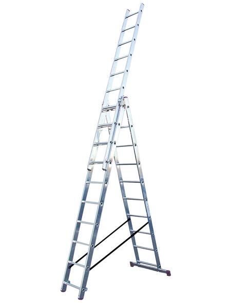 KRAUSE Vielzweckleiter »CORDA«, Anzahl Sprossen: 30, Aluminium