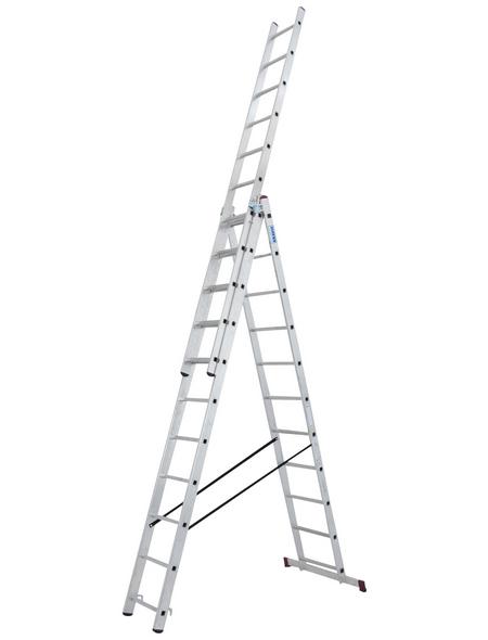 KRAUSE Vielzweckleiter »CORDA«, Anzahl Sprossen: 33, Aluminium
