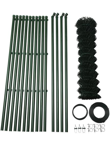 FLORAWORLD Viereckgeflecht-Zaunset, HxL: 80 x 2500 cm, grün