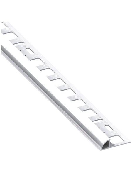 alfer® aluminium Viertelkreisprofil, BxHxL: 19,5 x 10 x 1000 mm, chromfarben