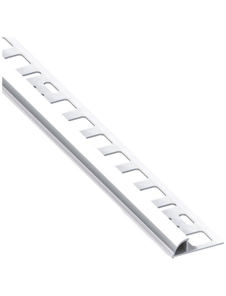 alfer® aluminium Viertelkreisprofil, BxHxL: 19,5 x 10 x 2500 mm, chromfarben
