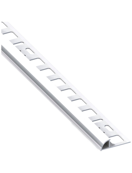 alfer® aluminium Viertelkreisprofil, BxHxL: 19,5 x 8 x 2500 mm, chromfarben
