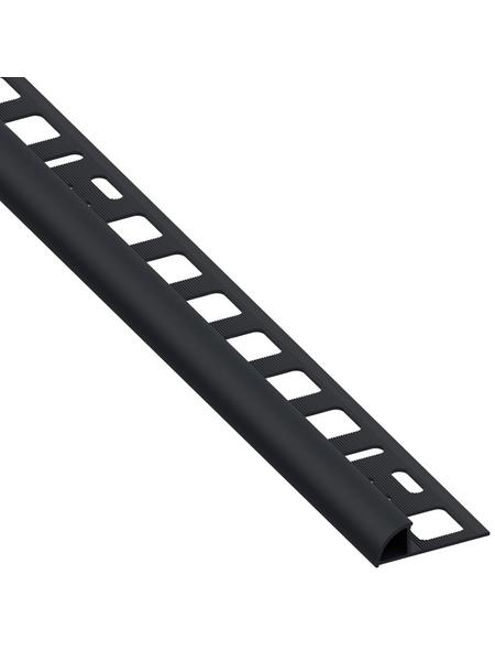 alfer® aluminium Viertelkreisprofil, BxHxL: 19,5 x 8 x 2500 mm, schwarz