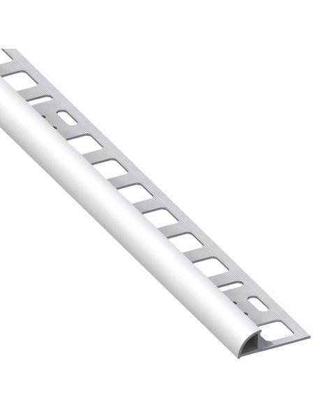 alfer® aluminium Viertelkreisprofil, BxHxL: 19,5 x 8 x 2500 mm, silberfarben