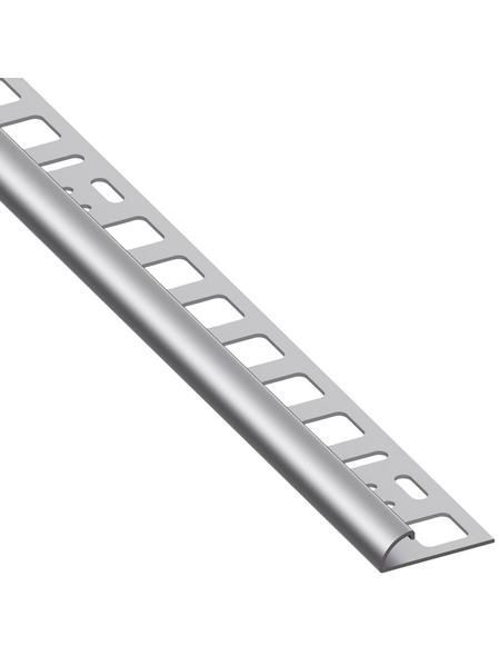 alfer® aluminium Viertelkreisprofil, BxHxL: 20 x 8 x 2500 mm, silberfarben