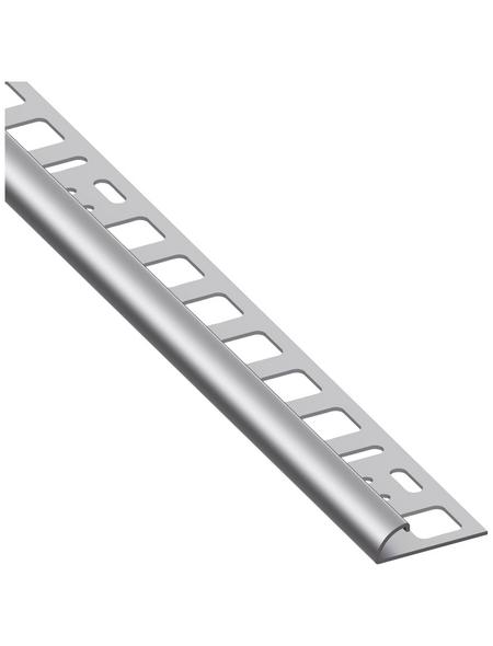 alfer® aluminium Viertelkreisprofil, BxHxL: 21 x 8 x 1000 mm, silberfarben