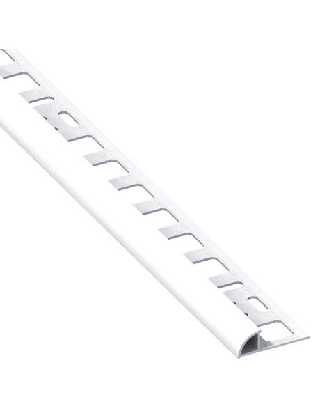 alfer® aluminium Viertelkreisprofil, BxL: 19,5 x 1000 mm, weiß