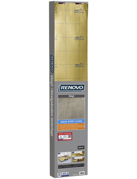 RENOVO Vinyl-/Designbodenunterlage »Aqua Stop«, 10,2 m², geeignet für Vinyl und Designböden