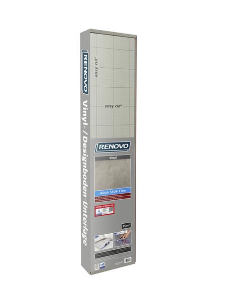 RENOVO Vinyl-/Designbodenunterlage »Aqua Stop«, 15 m², geeignet für Vinyl und Designböden