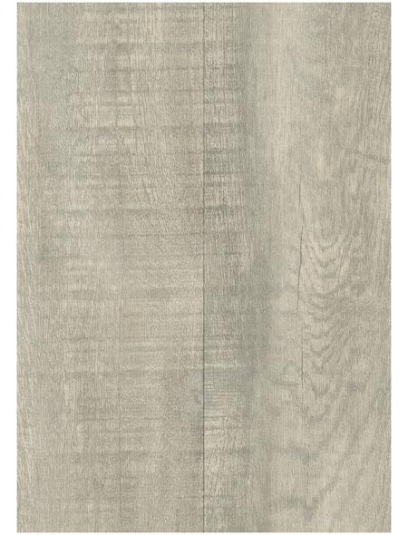 DECOLIFE Vinylboden, Holz-Optik, grau, BxL: 195 x 1225 mm