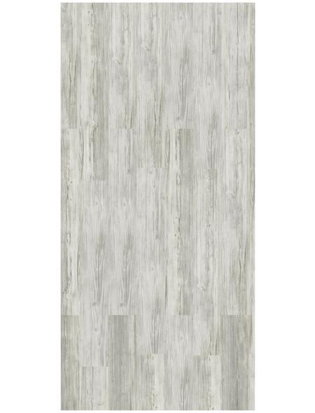 DECOLIFE Vinylboden, Holz-Optik, weiß, BxL: 185 x 1220 mm