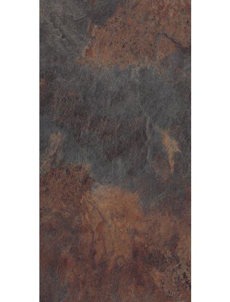HWZ INTERNATIONAL Vinylboden »STARCLIC STONE «, BxL: 304,8 x 605 mm, dunkelbraun
