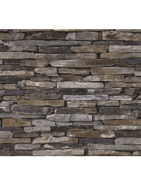 Vliestapete »Best of Wood´n Stone«, braun, strukturiert, für Feuchträume geeignet
