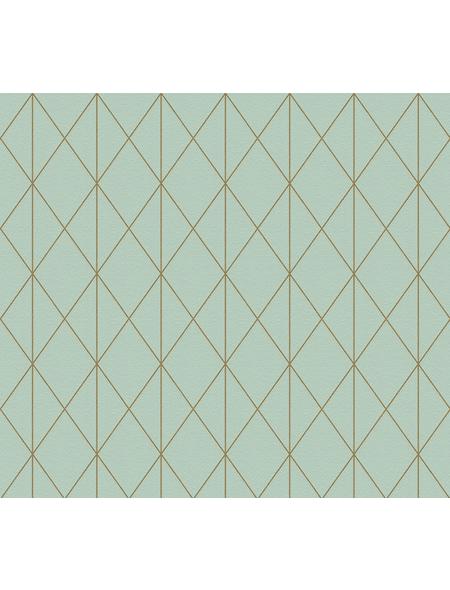 Vliestapete »Designdschungel«, grün/kupferfarben, strukturiert, für Feuchträume geeignet