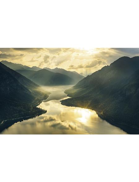 KOMAR Vliestapete »Gold Mountains«, Breite 400 cm, seidenmatt