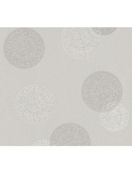 Vliestapete »Happy Spring «, grau/weiß, strukturiert, für Feuchträume geeignet