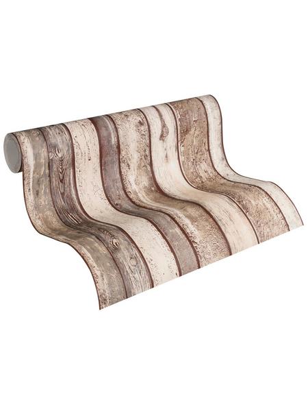 RENOVO Vliestapete »Holzmotiv«, braun, min: 5.3m²