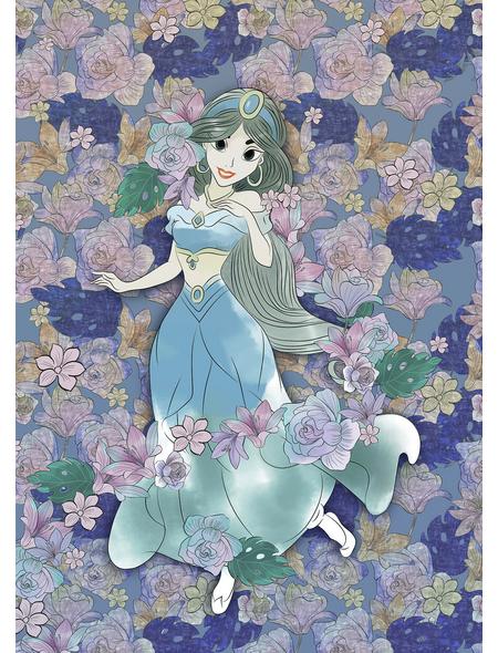 Vliestapete »Jasmin Colored Flowers«, bunt, glatt
