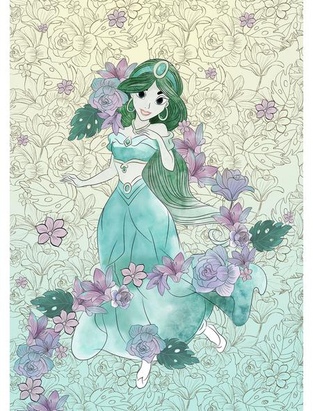 Vliestapete »Jasmin Pale Flowers«, bunt, glatt