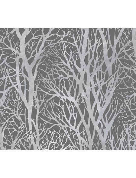 Vliestapete »Life 3 «, grau/silberfarben, strukturiert, für Feuchträume geeignet