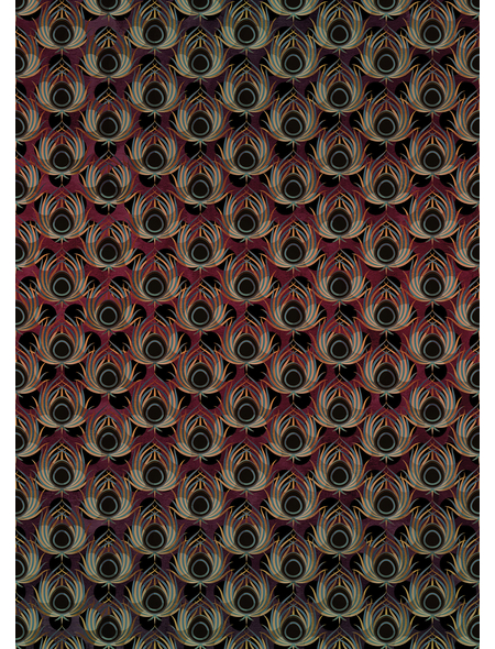 KOMAR Vliestapete »Paon Rouge«, Breite 200 cm, seidenmatt
