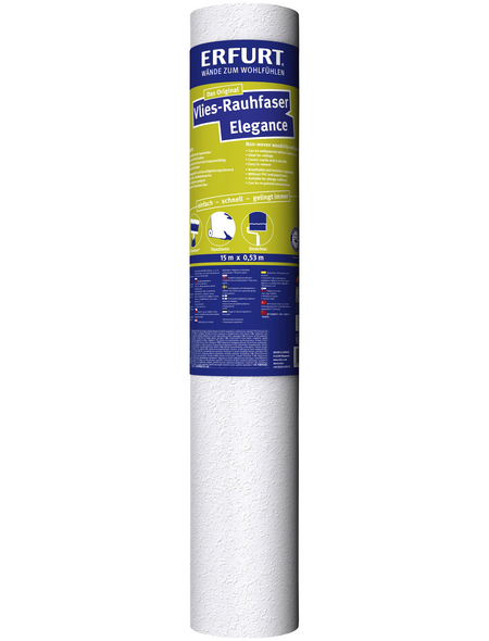 ERFURT Vliestapete »Vlies-Rauhfaser Elegance«, weiß, strukturiert