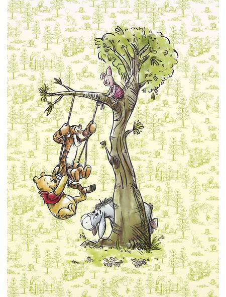 Vliestapete »Winnie Pooh in the wood«, bunt, glatt