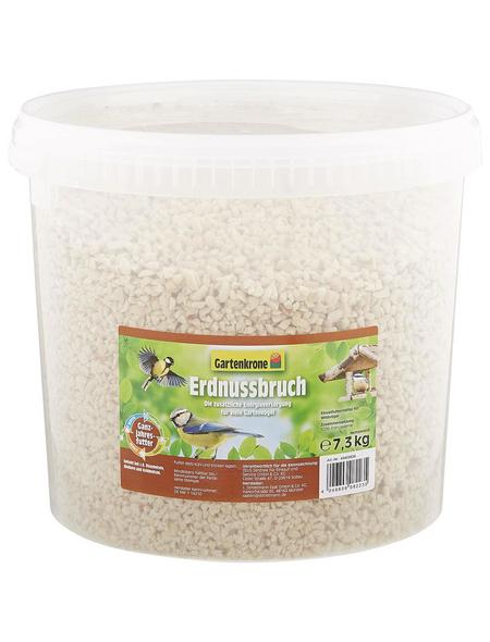 GARTENKRONE Vogelfutter »Erdnussbruch«, 1 Eimer à 7300 g