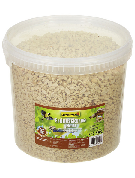 GARTENKRONE Vogelfutter »Erdnusskerne «, 1 Eimer à 7300 g