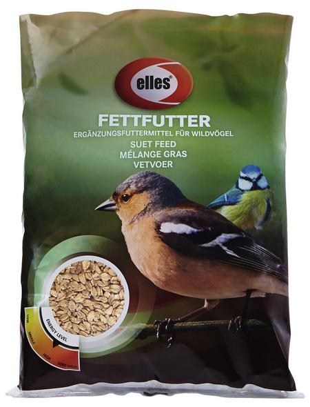 ELLES Vogelfutter »Fettfutter«, Weizenflocken / Fett, 15x1 kg