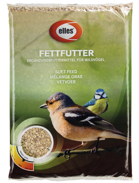 ELLES Vogelfutter »Fettfutter«, Weizenflocken / Fett, 6x2,5 kg