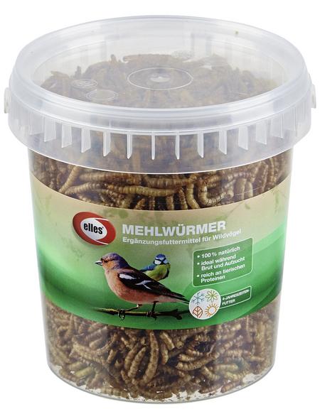 ELLES Vogelfutter »Mehlwürmer«, 4 Eimer à 125 g