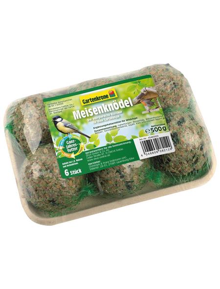 GARTENKRONE Vogelfutter »Meisenknödel«, Getreide-Saaten-Mix, 500 g