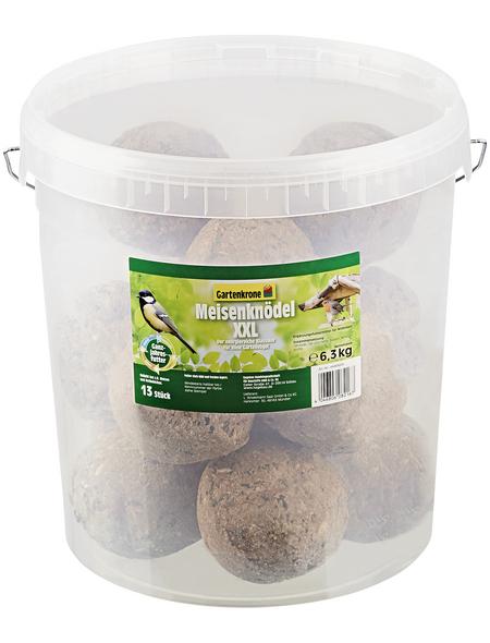GARTENKRONE Vogelfutter »Meisenknödel XXL ohne Netz«, 1 Eimer à 6500 g
