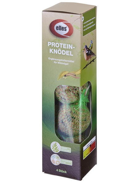 ELLES Vogelfutter »Protein-Knödel«, Koerner / Fett, 12x17,2 kg