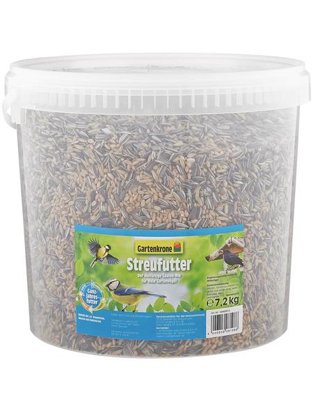 GARTENKRONE Vogelfutter »Streufutter«, 1 Eimer à 7200 g