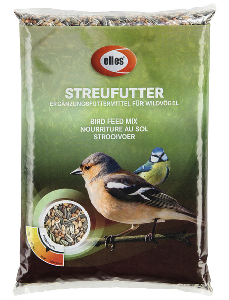 ELLES Vogelfutter »Streufutter«, Sonnenblumenkerne, 6x2,5 kg