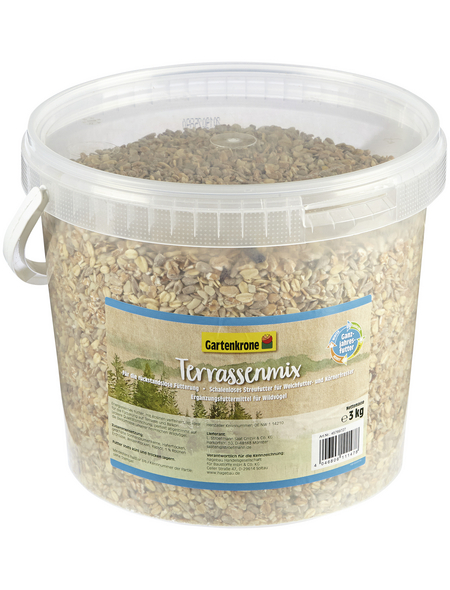 GARTENKRONE Vogelfutter »Terrassenmix«, 1 Eimer à 3000 g