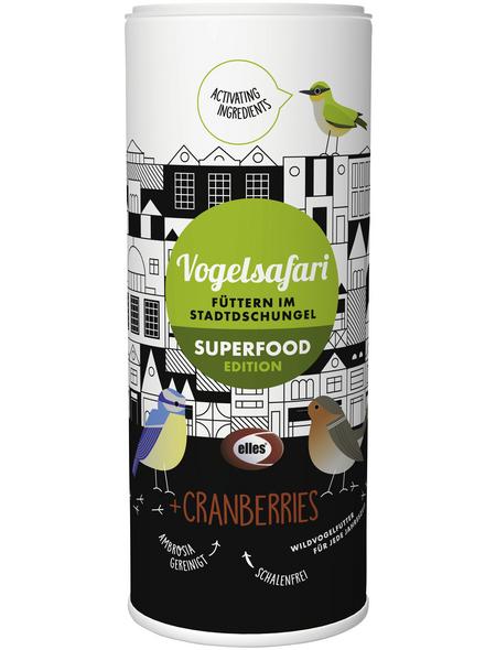 ELLES Vogelfutter »Vogelsafari Superfood«, Cranberry, 6x900 g