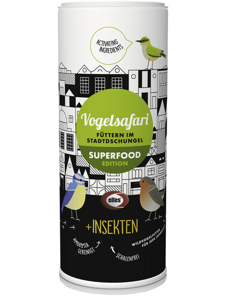 ELLES Vogelfutter »Vogelsafari Superfood«, Insekten, 6x900 g