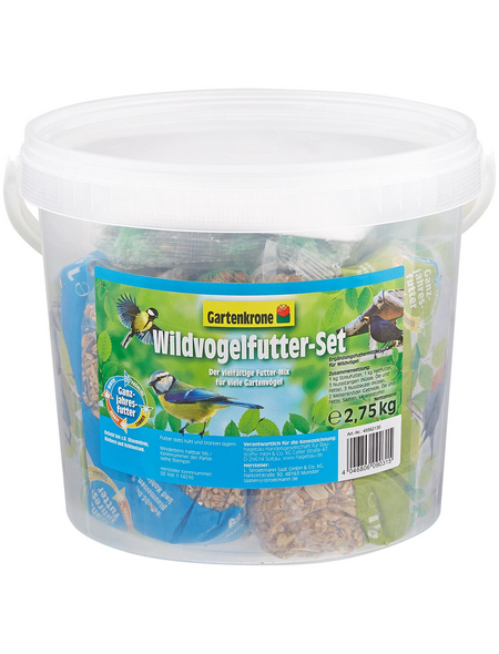 GARTENKRONE Vogelfutter »Wildvogelfutter-Set«, 1 Eimer à 2750 g