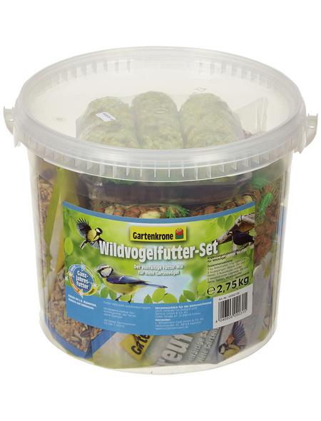 GARTENKRONE Vogelfutter »Wildvogelfutter-Set«, Getreide, 2,75 kg