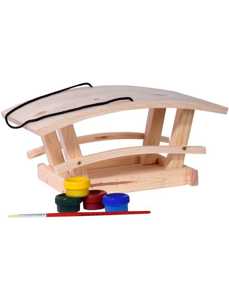 DOBAR Vogelfutterhaus-Bausatz mit 4 Farben