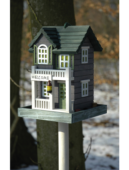DOBAR Vogelfutterhaus USA-Stil Modell Welcome