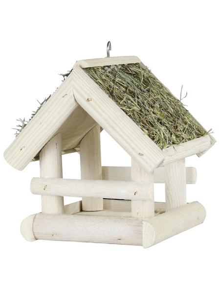 PATKAR Vogelhaus, Holz, weiß/natur, hängend