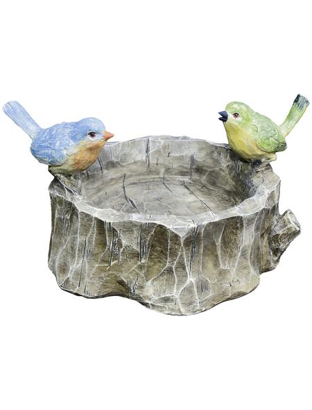 GRANIMEX Vogeltränke »Abarido«, Polystone, grau/braun