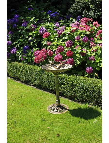 Vogeltränke, Höhe: 80  cm, Kunststoff, bronzefarben