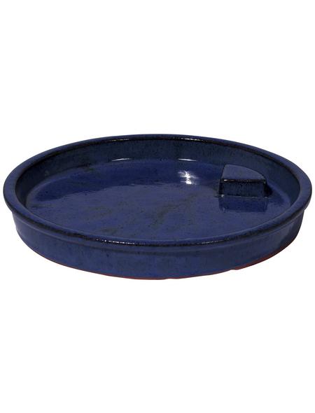 Vogeltränke, Keramik, blau