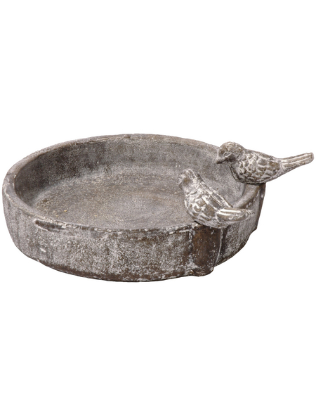 DOBAR Vogeltränke »Pool-Oase«, für Vögel, Keramik, grau