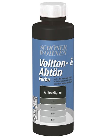SCHÖNER WOHNEN FARBE Voll- und Abtönfarbe, anthrazit, 125 ml